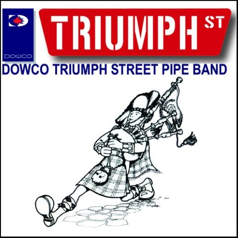 Photo courtesy of Dowco Triumph Street Pipe Band